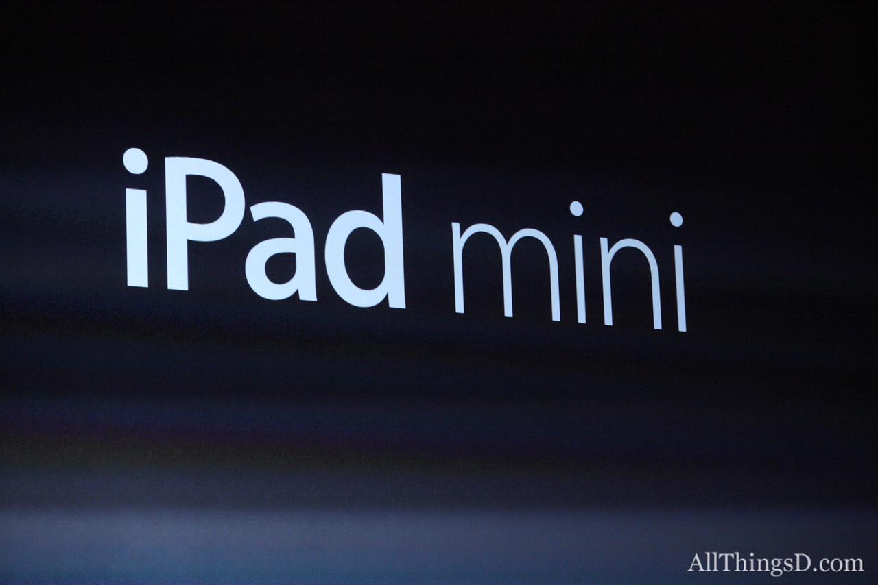 ... Apple made the long-awaited iPad mini official.
