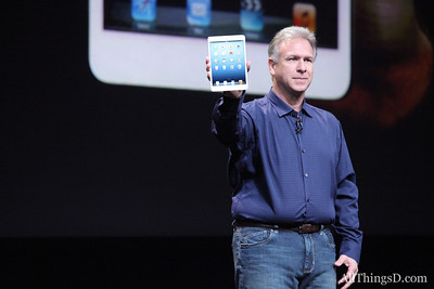 "AllThingsD's Peter Kafka took away two messages from Schiller's pitch: First, the ""iPad mini is like iPad, but smaller."" ..."