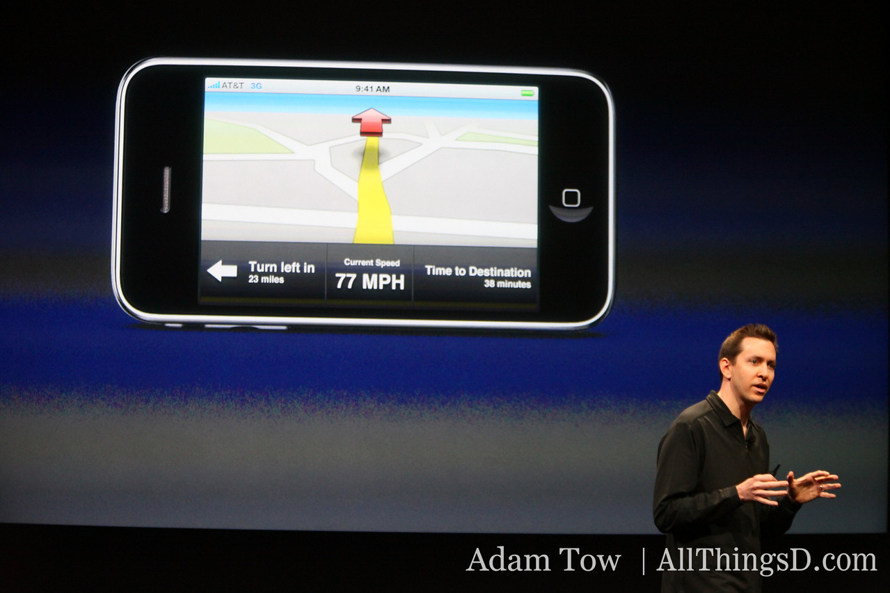 It also supports core location and cell tower triangulation so that developers can build their own turn-by-turn apps.