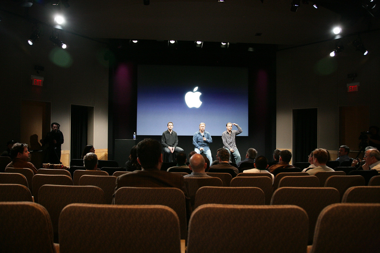 Following the event, the Apple execs stayed behind to answer the press' questions. Developers went upstairs for refreshments and networking.