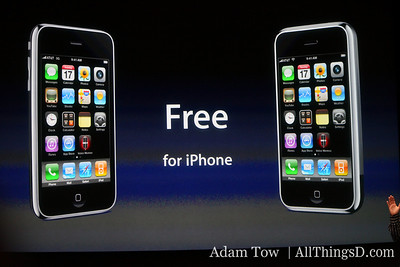 Software is free for iPhone, $9.95 for iPod Touch.