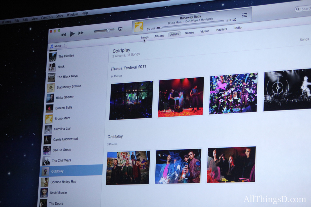 The new version of iTunes is dramatically simpler and has iCloud built-in, Cue said.