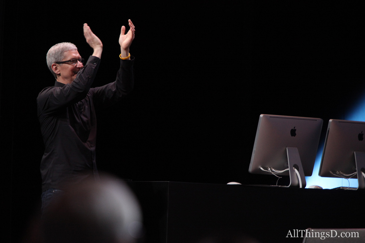 Tim Cook applauds, and the day's event ends. Read more about all the announcements in AllThingsD's recap here: http://allthingsd.com/20120912/apples-iphone-event/