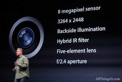 Schiller also boasted the features of the new iPhone's improved camera.