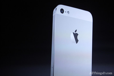 "The new iPhone will come in white and black. ""They are both stunning,"" Schiller said."