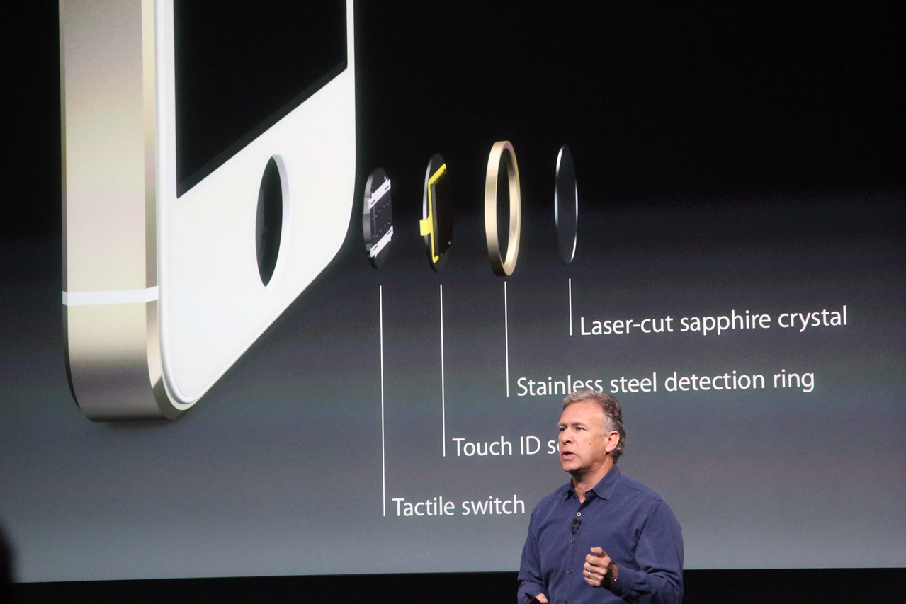 Schiller explains what goes into making the fingerprint scanner, which is embedded in the home button.