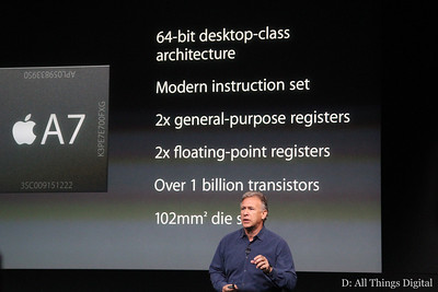 Some specs about the guts of the new phone and Apple's new A7 chip.