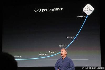 Schiller claimed that the chip will deliver much faster speeds in both CPU...