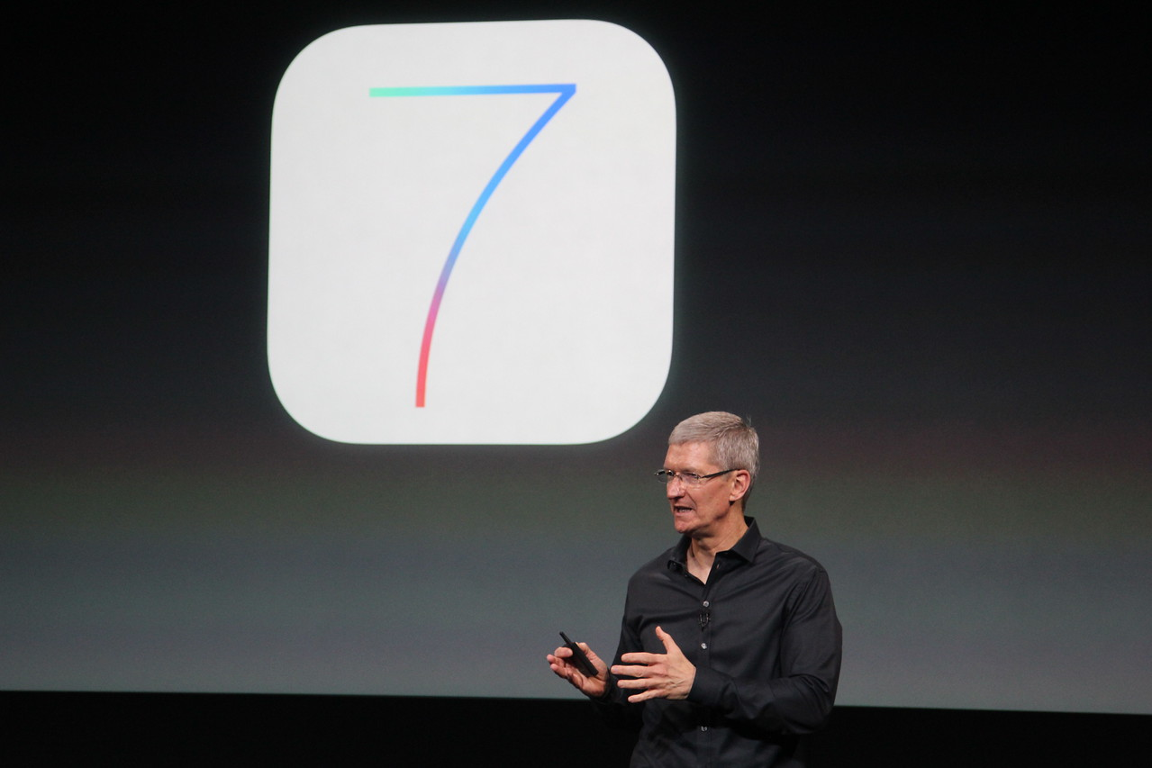 Cook then retook the stage to talk up Apple's productivity and creativity apps -- namely, Pages, Numbers, Keynote, iPhoto and iMovie.