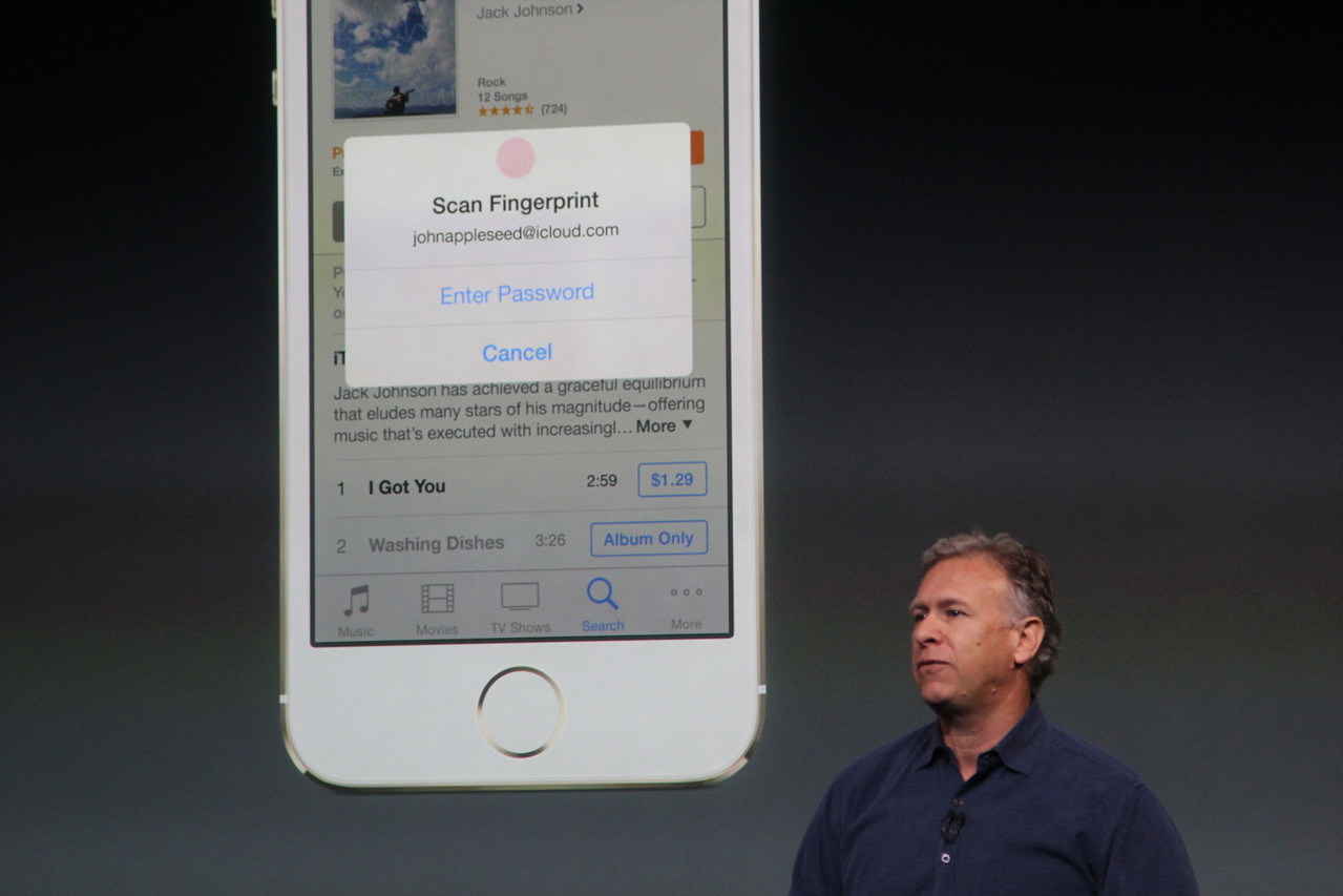 In addition to unlocking the phone, Touch ID can also be used to make purchases in iTunes and the App Store, he said.