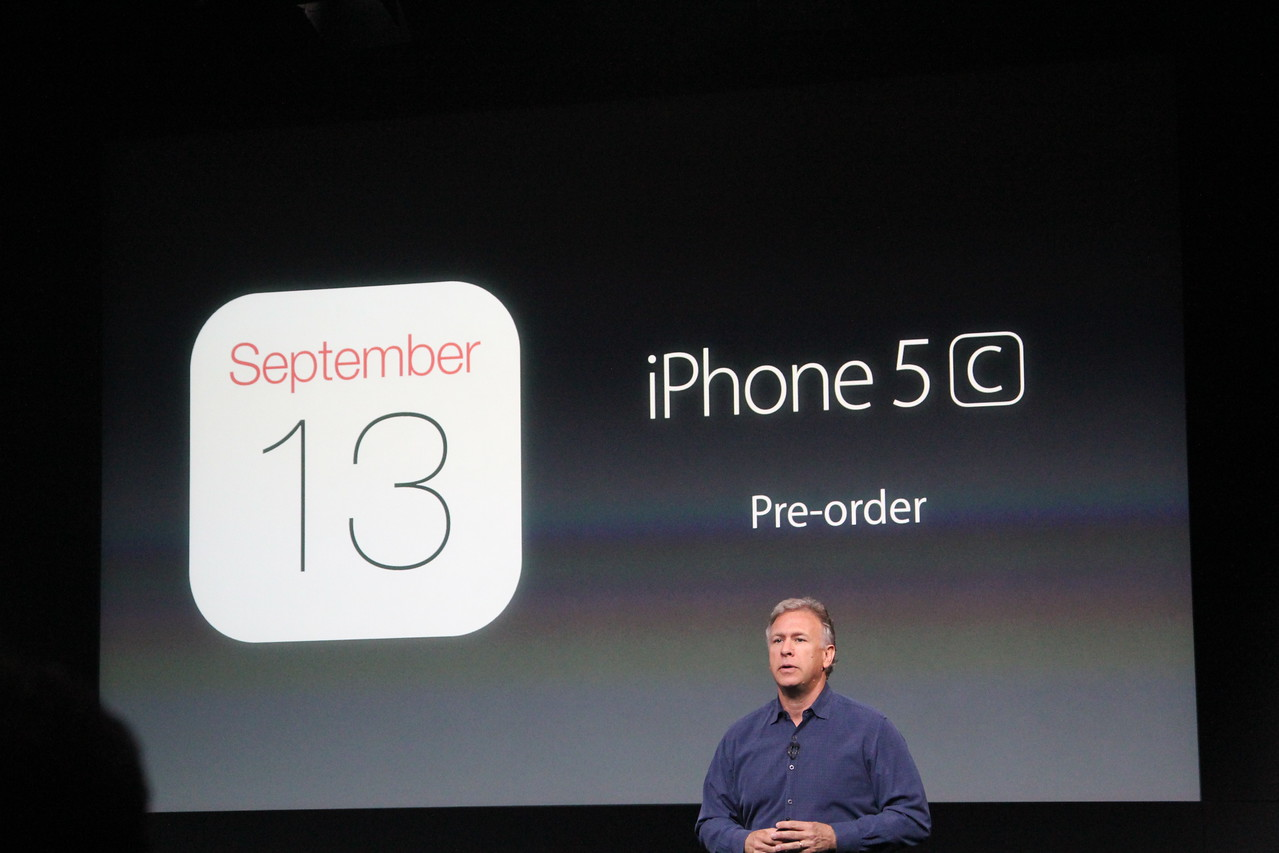 iPhone 5C pre-orders start September 13.
