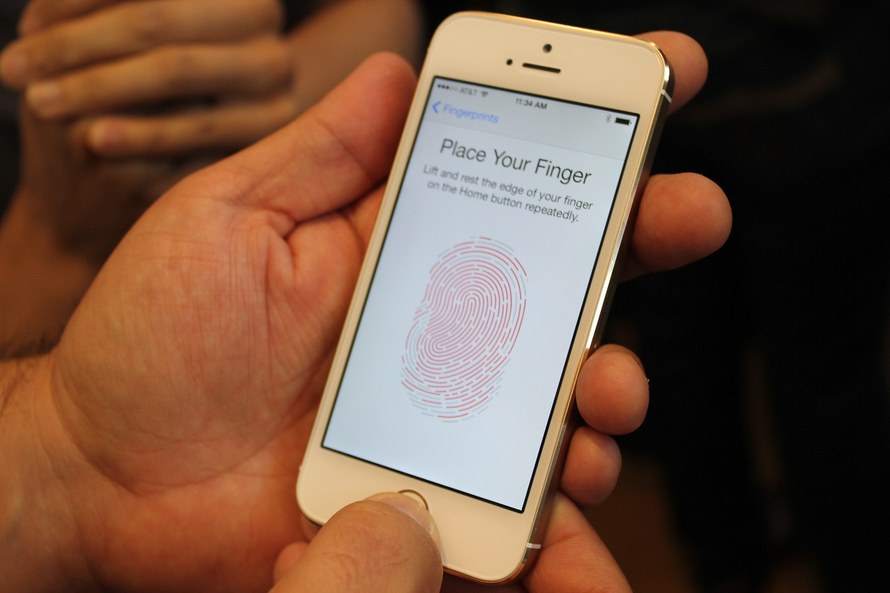 Multiple fingerprints may be added in the phone's settings, but they all work the same way -- meaning one can't be blocked from making iTunes purchases, for instance.