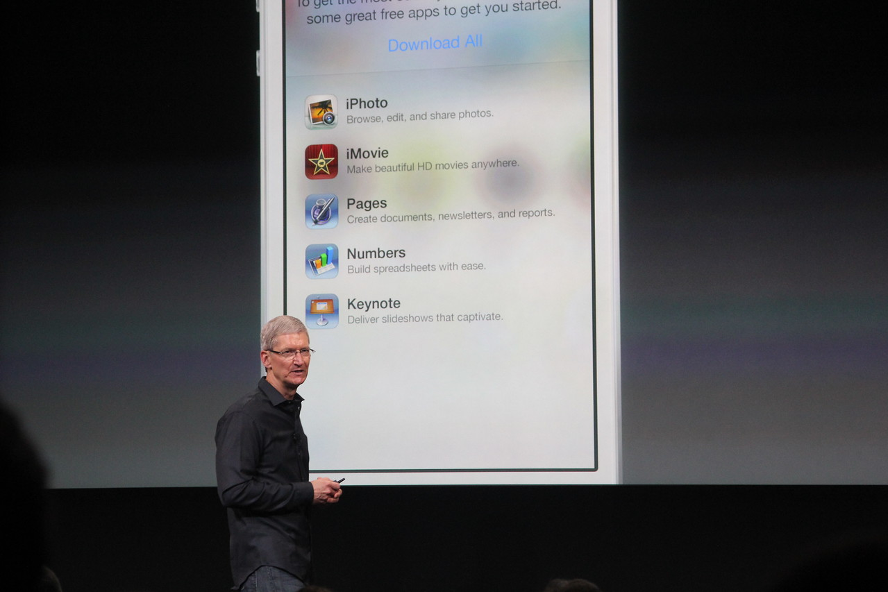 Those apps are currently paid, but will be made free to download on new iDevices.