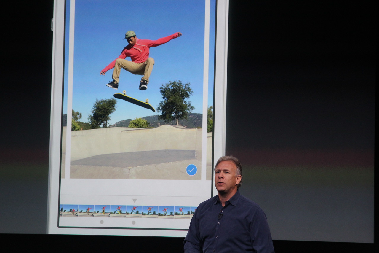 A new burst mode can take up to 10 pictures per second, Schiller said.