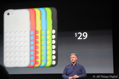 ... And those 5C cases will cost $29, Schiller said.