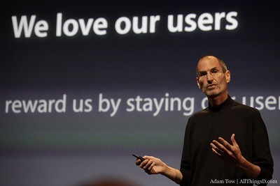 Steve Jobs talking about how they will be resolving the iPhone 4 antenna issues.