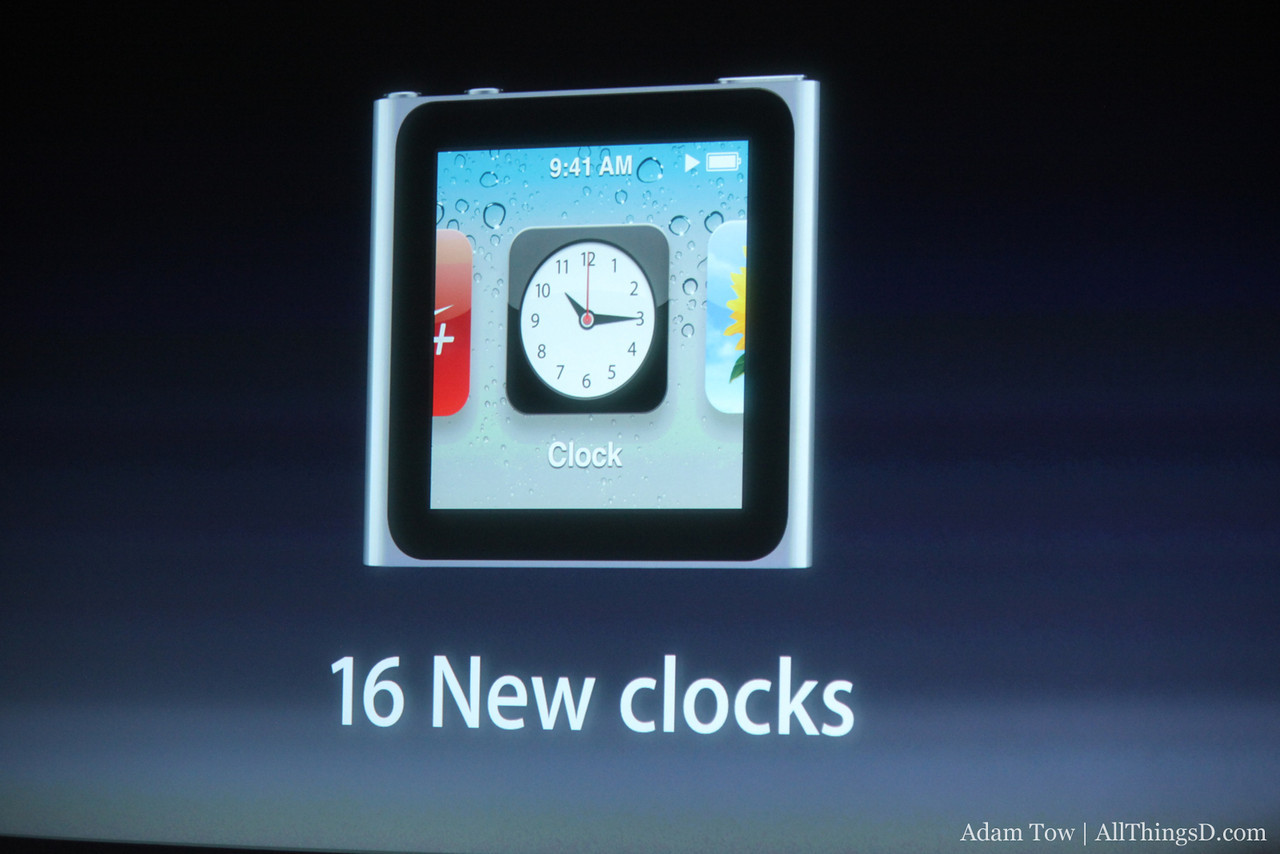 New clocks in the iPod nano to go with your nano watch case.