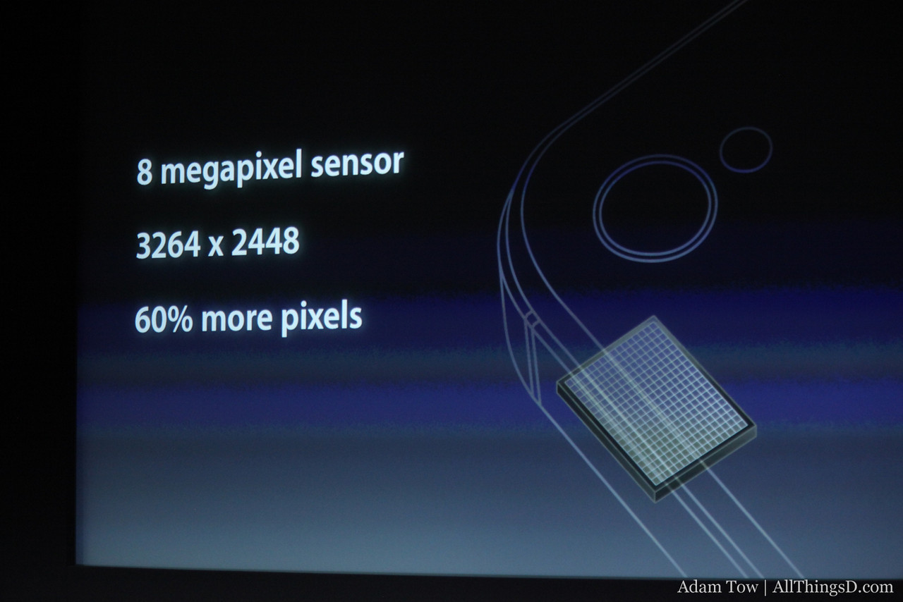 Camera improvements include an 8 megapixel sensor.