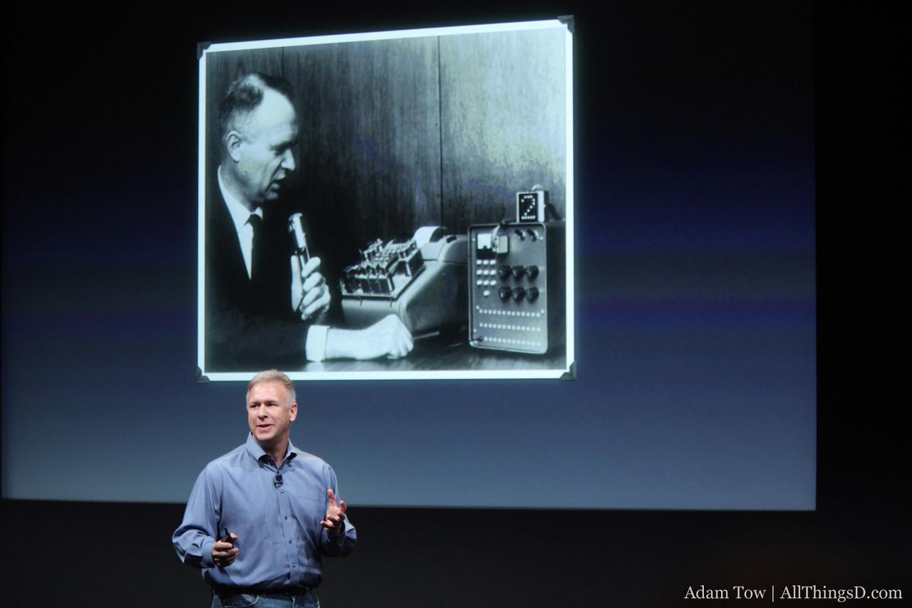 Phil Schiller introduces Siri.