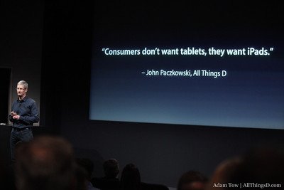 A quote about the iPad from AllThingsD's very own John Paczkowski.