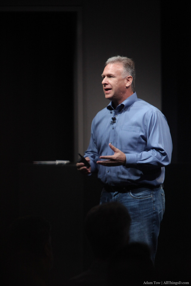 Phil Schiller comes on stage to talk about iPods.