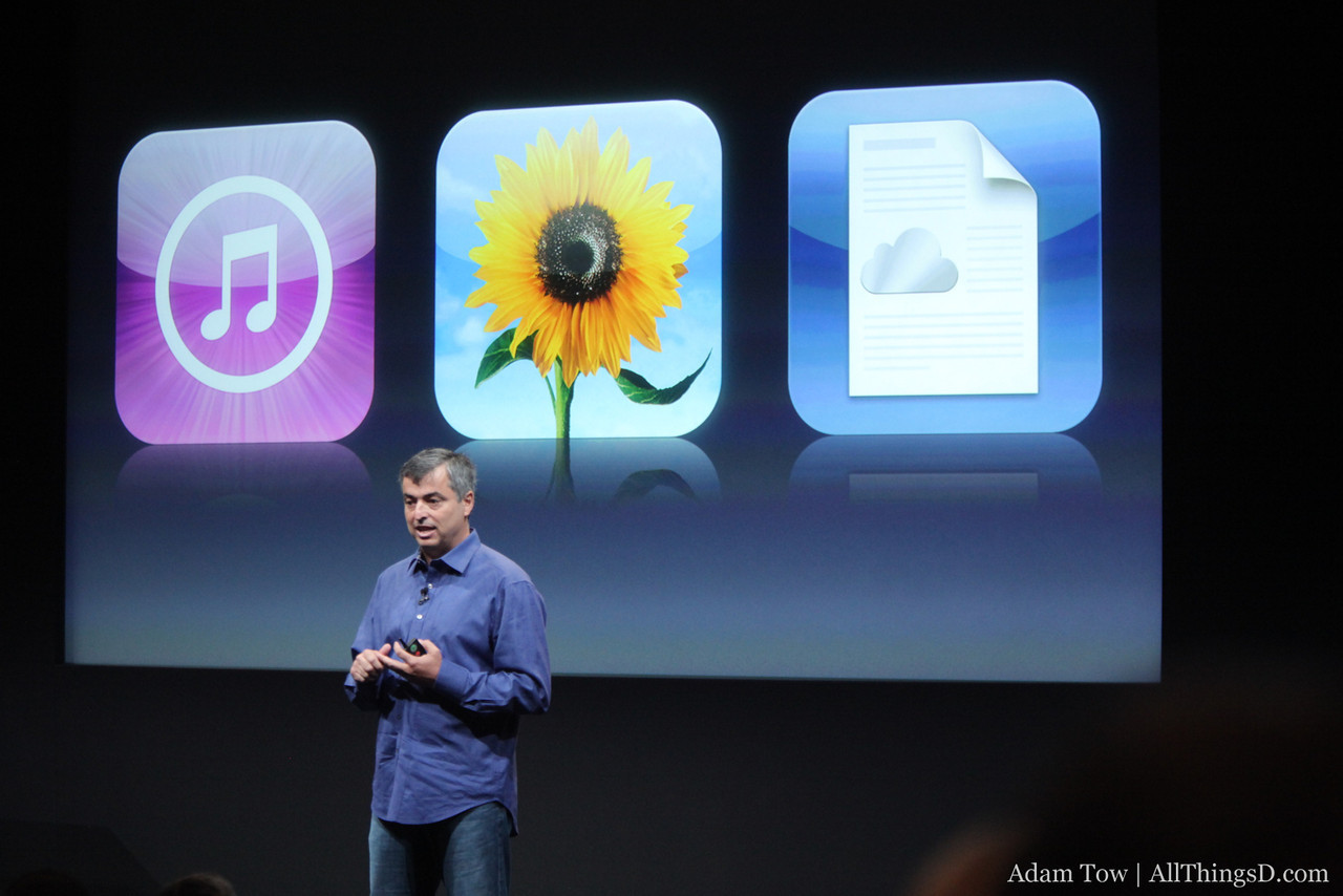 iCloud for music, photos and applications.