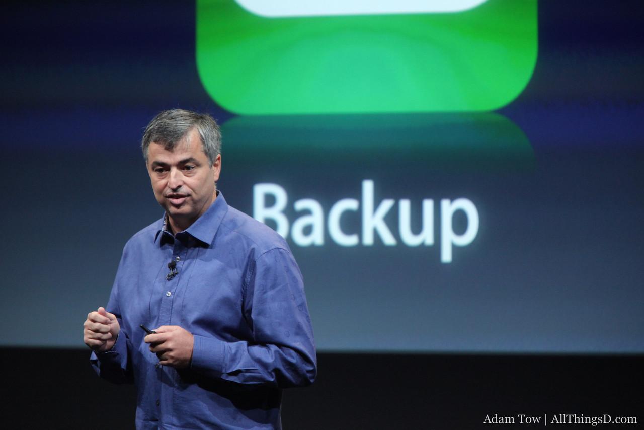 Eddy talks about backup in iCloud.
