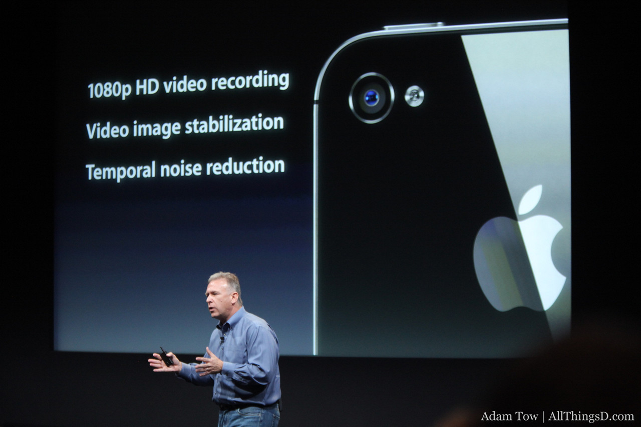 The iPhone 4S does 1080p video.