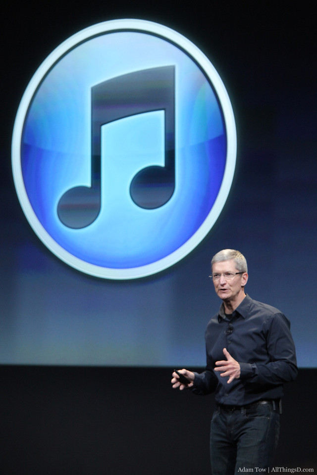 Apple CEO Tim Cook talks about iTunes.