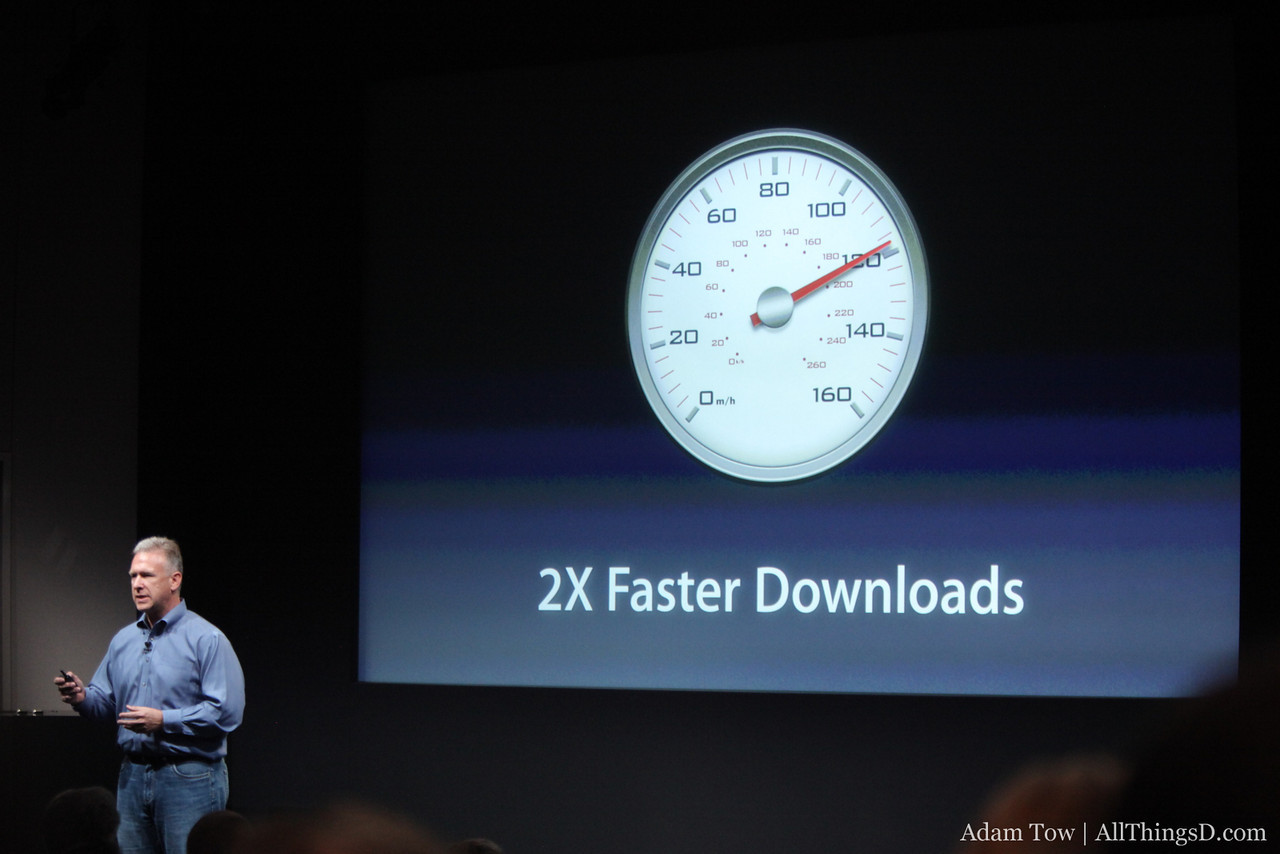 The new antenna design makes downloads up to 2x faster.