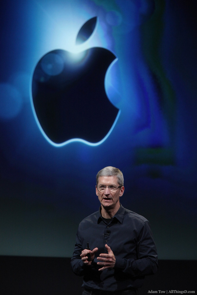 Apple CEO Tim Cook concludes the Let's talk iPhone event in Cupertino.