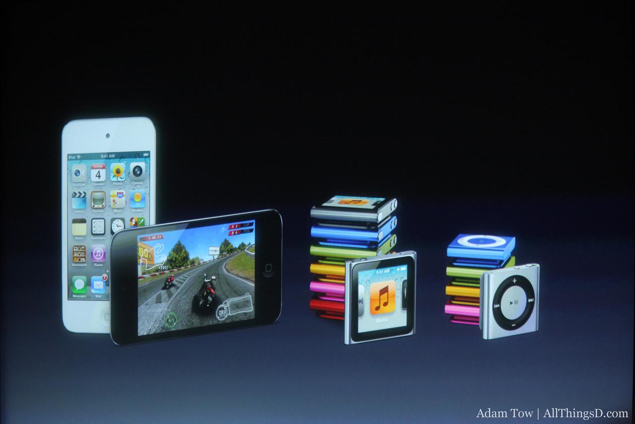 The iPod lineup.
