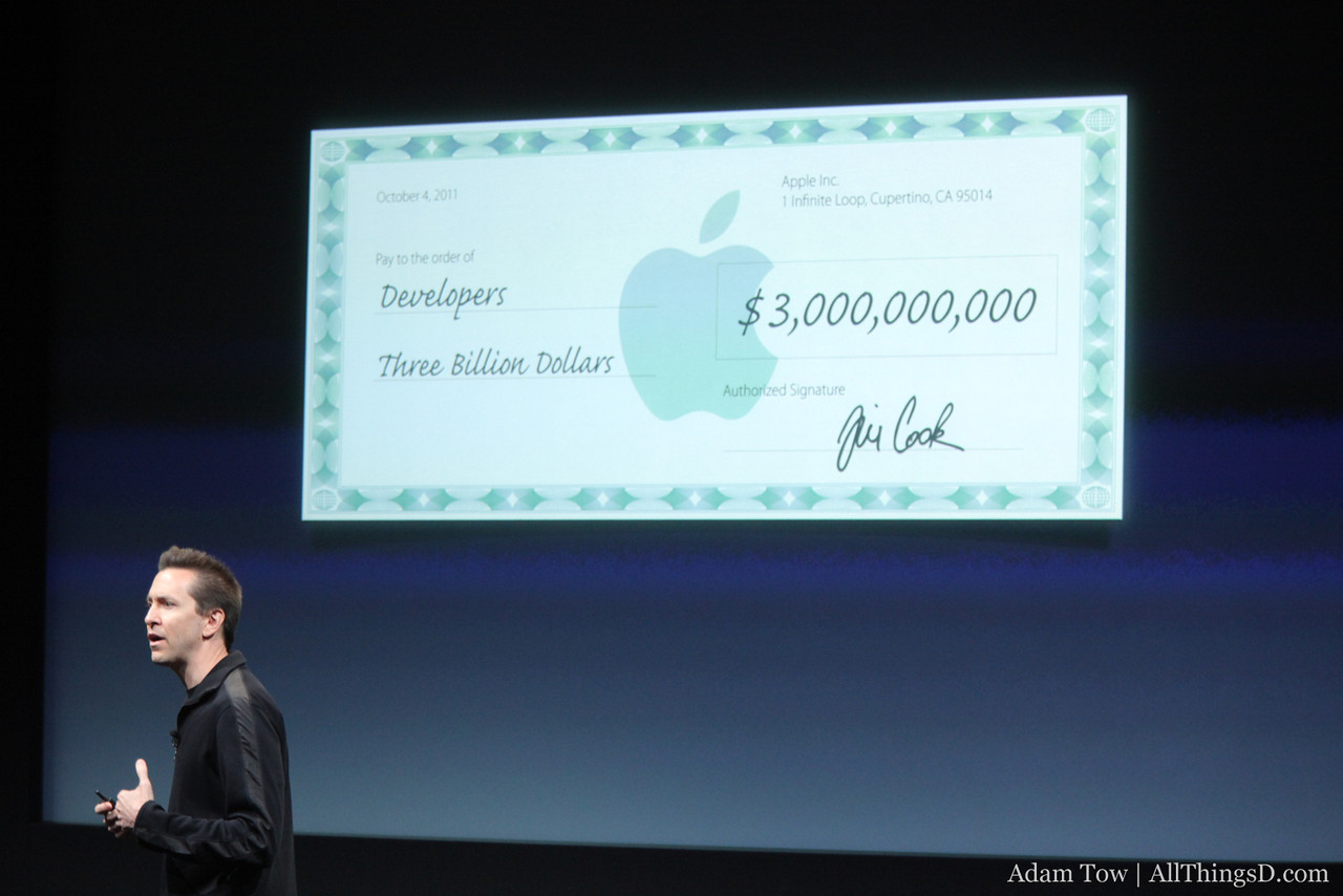 $3 billion dollars has been given out to developers.