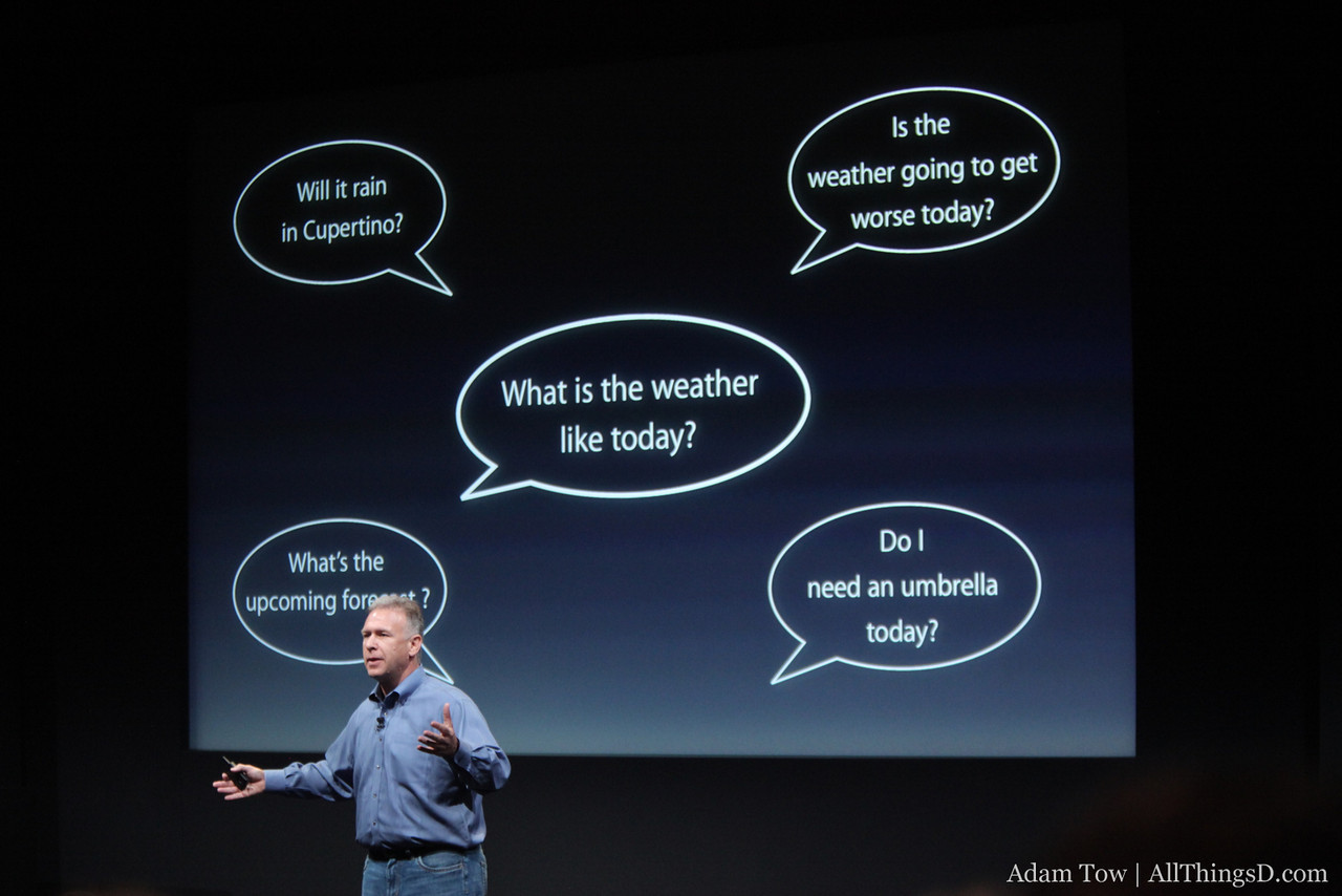 The types of things you could say to Siri which mean the same thing.
