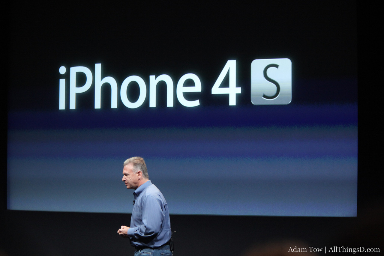 Phil Schiller introduces the iPhone 4S.