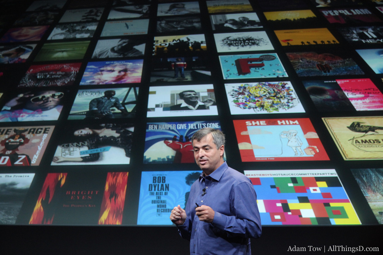 Eddy Cue switches to talking about music in the cloud.