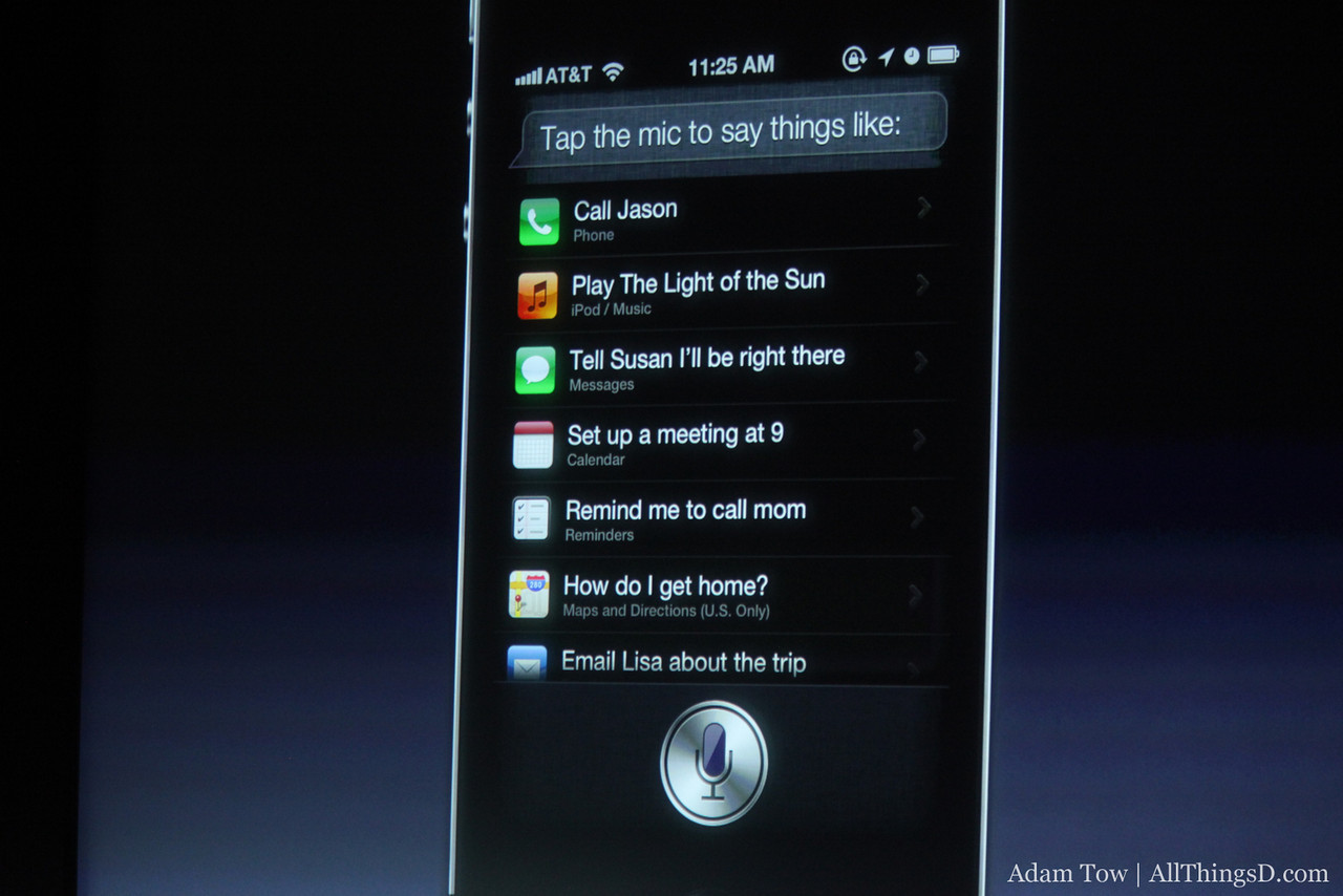 The things you can ask Siri.