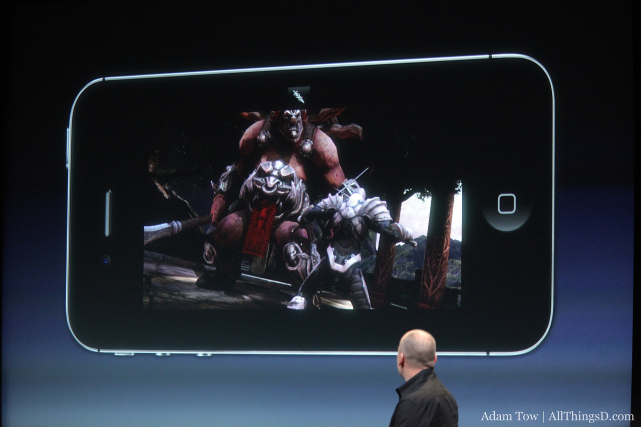 A quick demo of Infinity Blade 2 showcases the graphics power of the iPhone 4S.