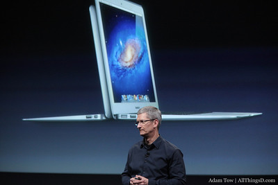 Tim Cook talks about the MacBook lineup.
