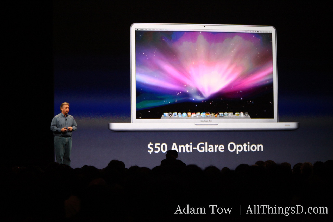 "For design professionals, there's a new Anti-Glare Option for the new 17"" MacBook Pro."