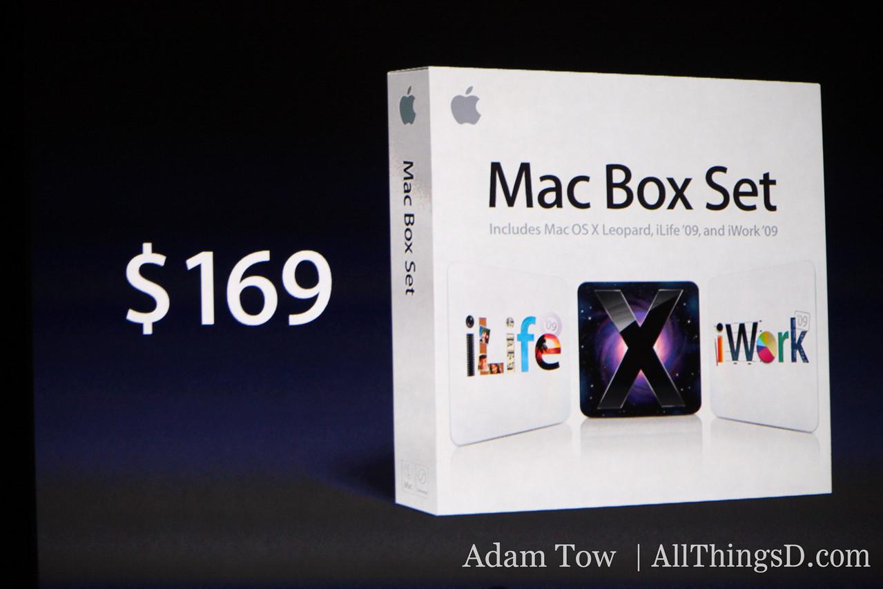 Mac Box Set, including iWork, iLife and Mac OS X for $169.