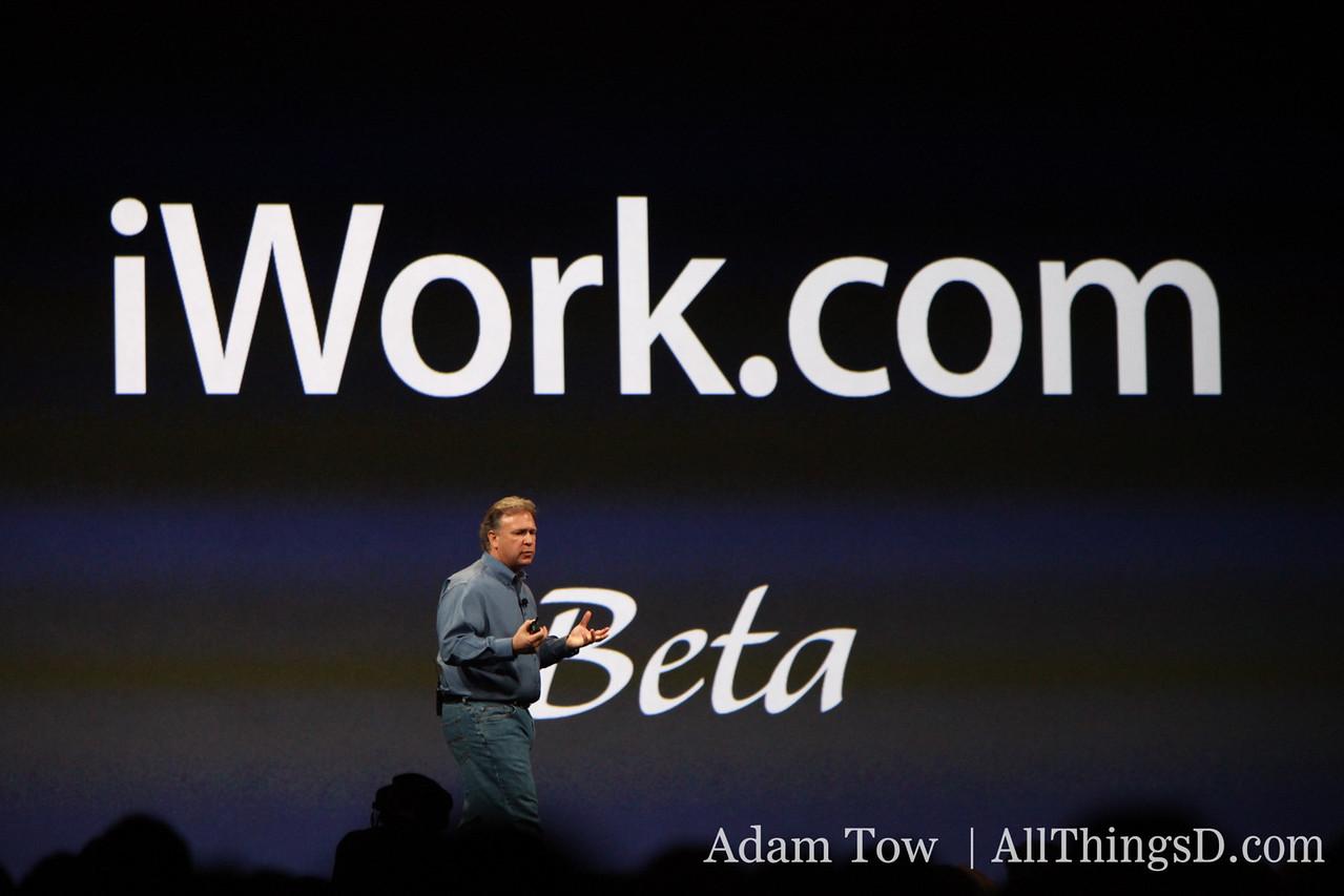 Phil introduces iWork.com