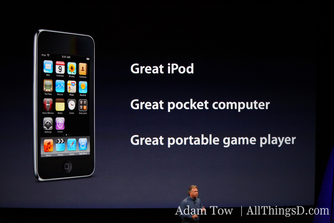 Now for the iPhone--it's a great iPod, pocket computer and portable game player.