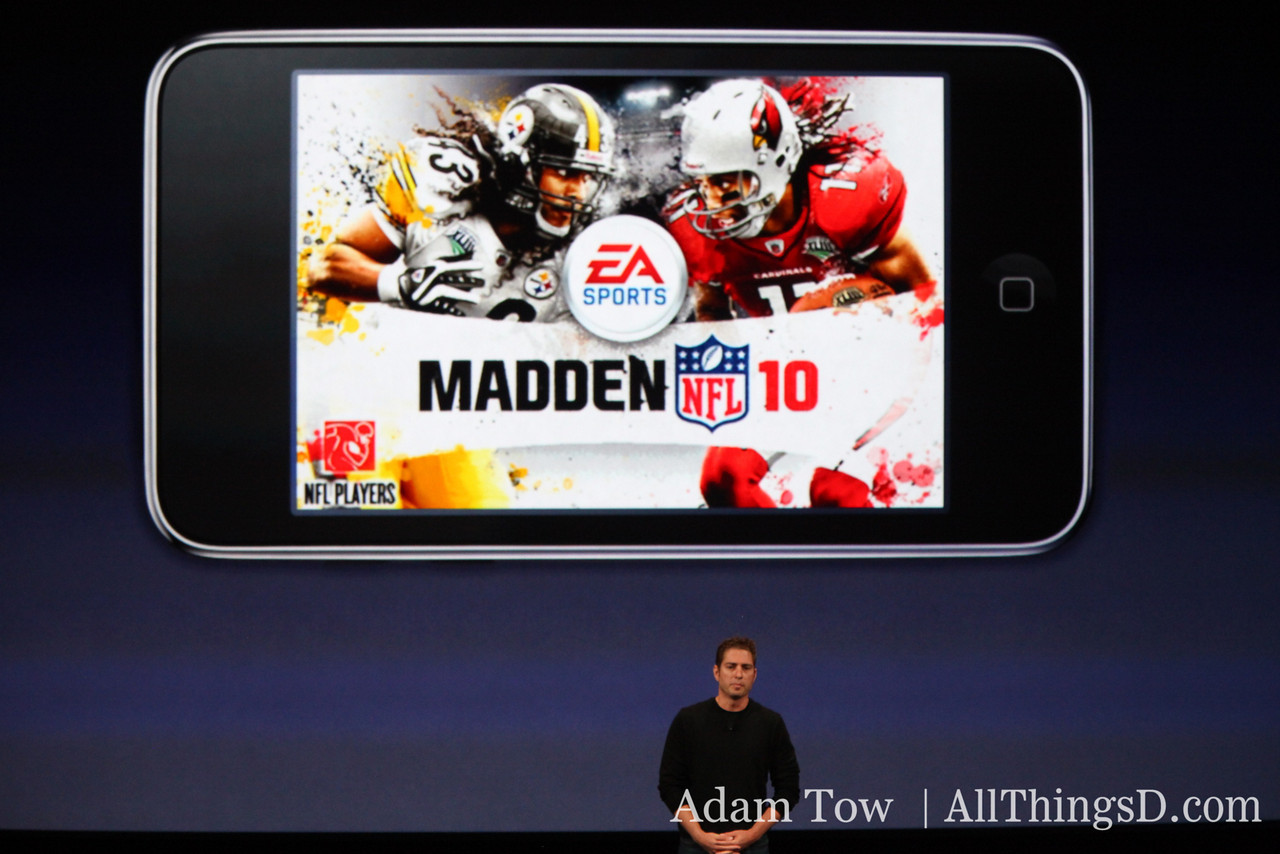 EA's Travis Boatman takes the stage to introduce Madden NFL 10.