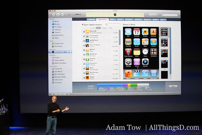 iTunes 9 also has a new interface that allows you to organize your iPhone screen from within iTunes.