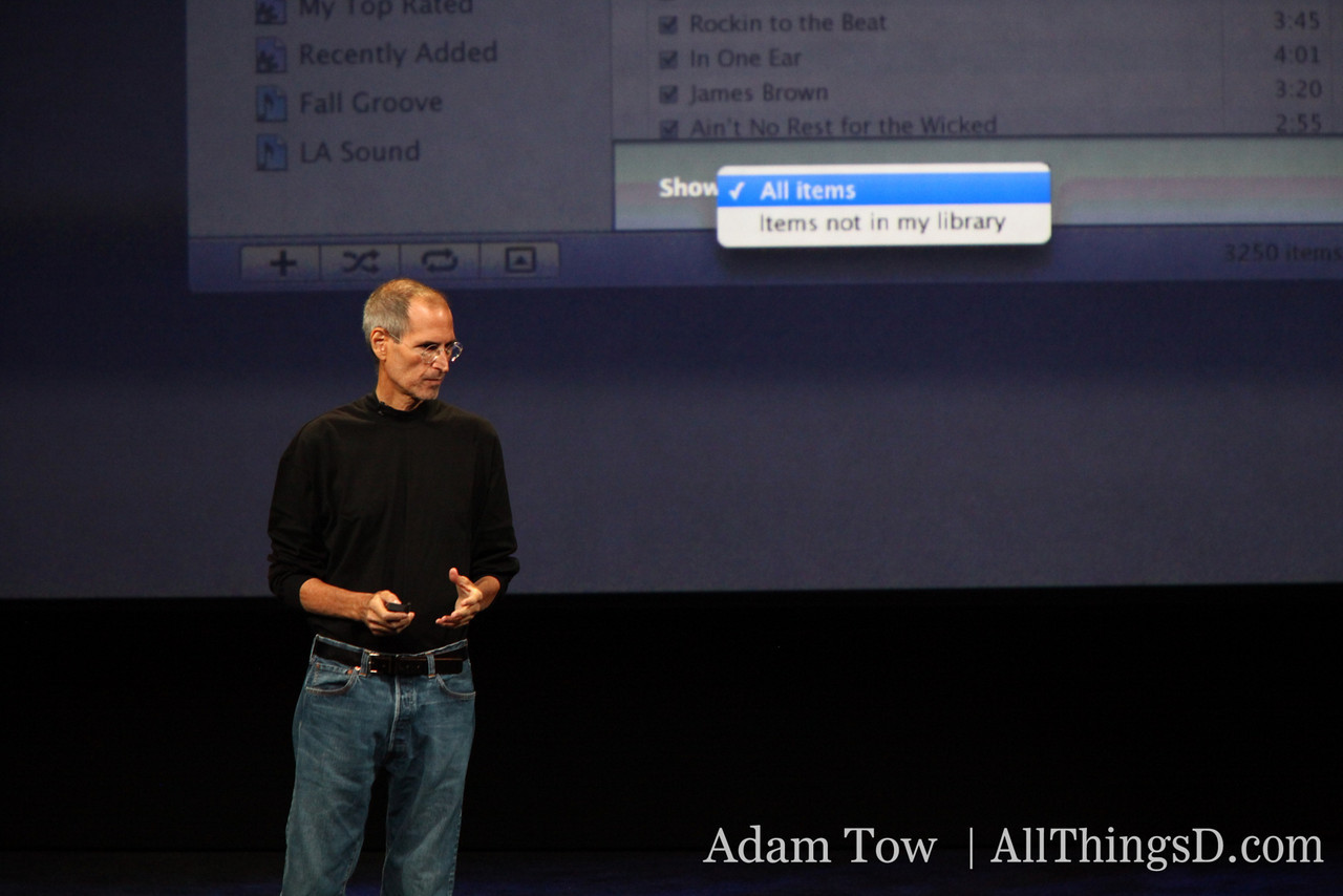 Up close with Jobs and iTunes 9.