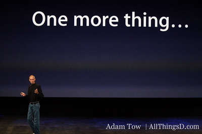 Jobs returns to the stage to talk about one more thing...
