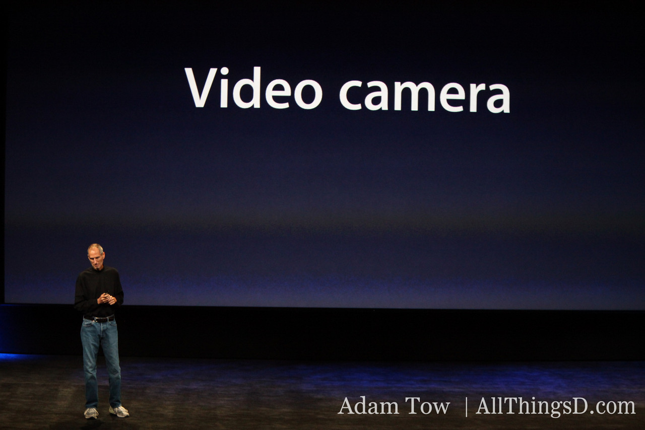 ...And it's a video camera. Apple's entering the video gadget space.