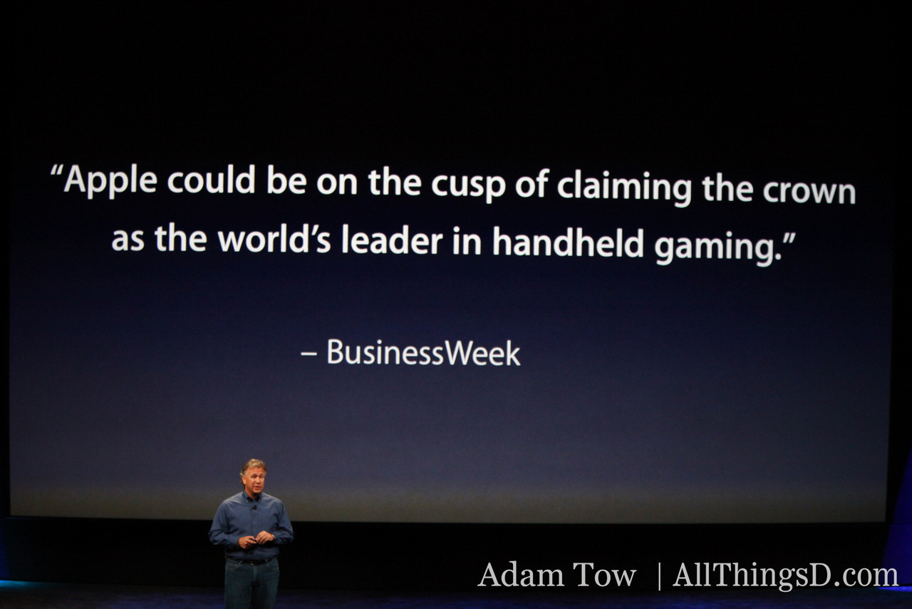 The iPhone has become one of the leaders in the handheld gaming space.