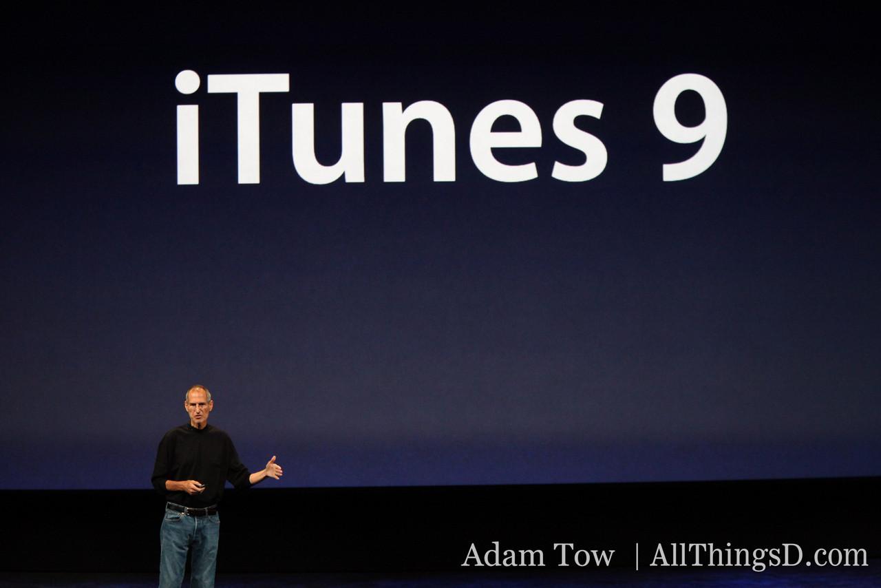 Apple CEO Steve Jobs introduces iTunes 9.